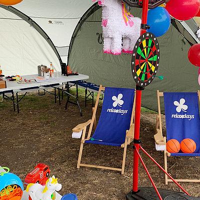 Relaxdays Pavillon zum Fontänefest 2019
